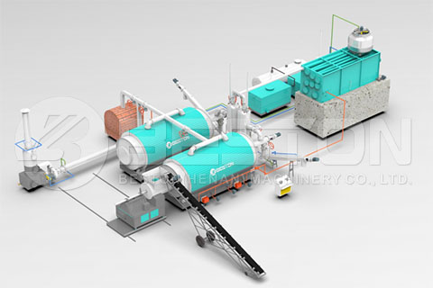 Tyre Pyrolysis Plant Design from Beston
